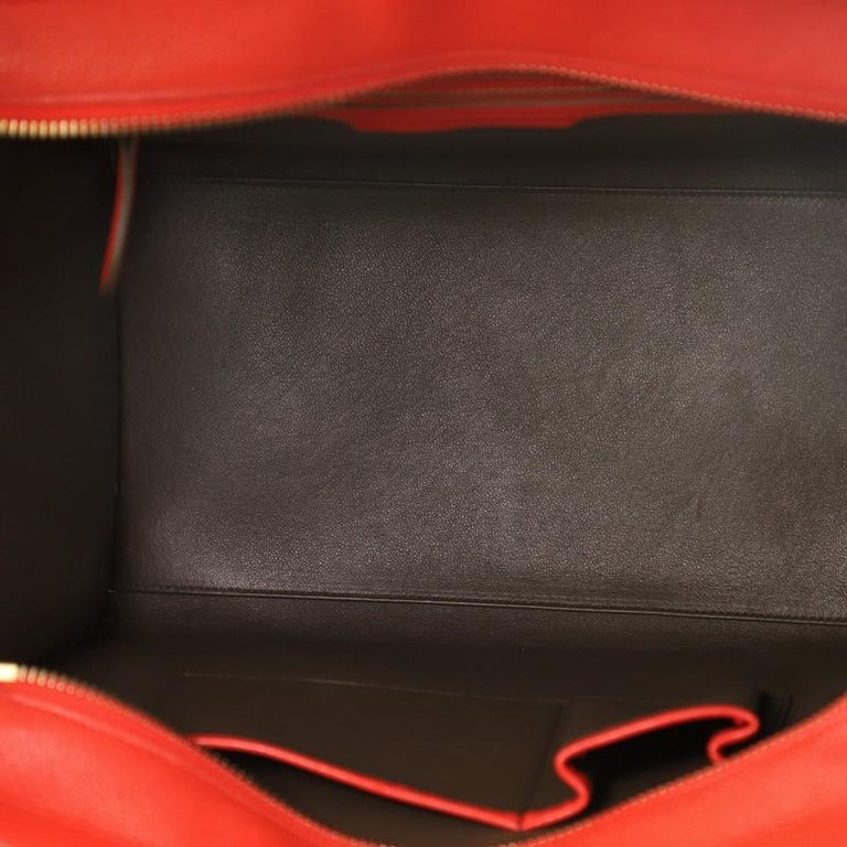 Women's or Men's Celine Bicolor Luggage Bag Leather Mini For Sale
