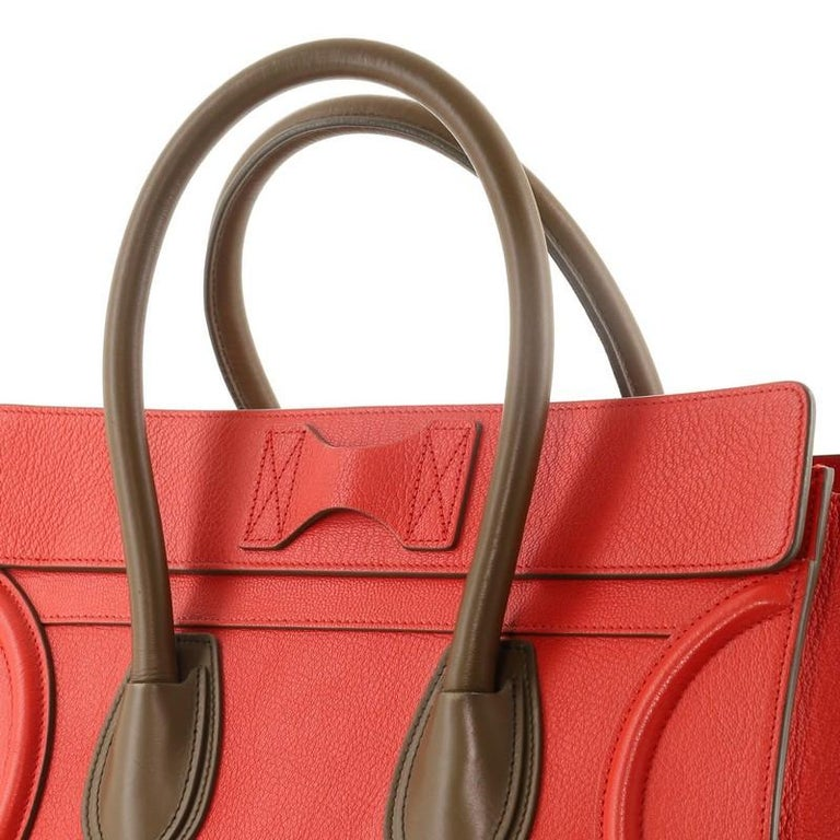 Celine Bicolor Luggage Bag Leather Mini For Sale 1
