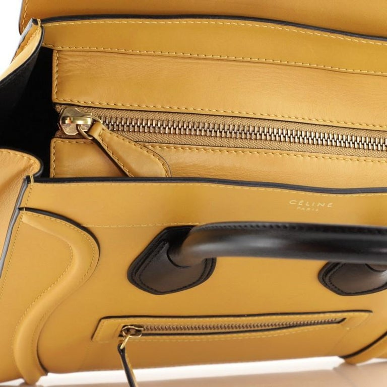 Celine Bicolor Luggage Bag Leather Mini For Sale 1