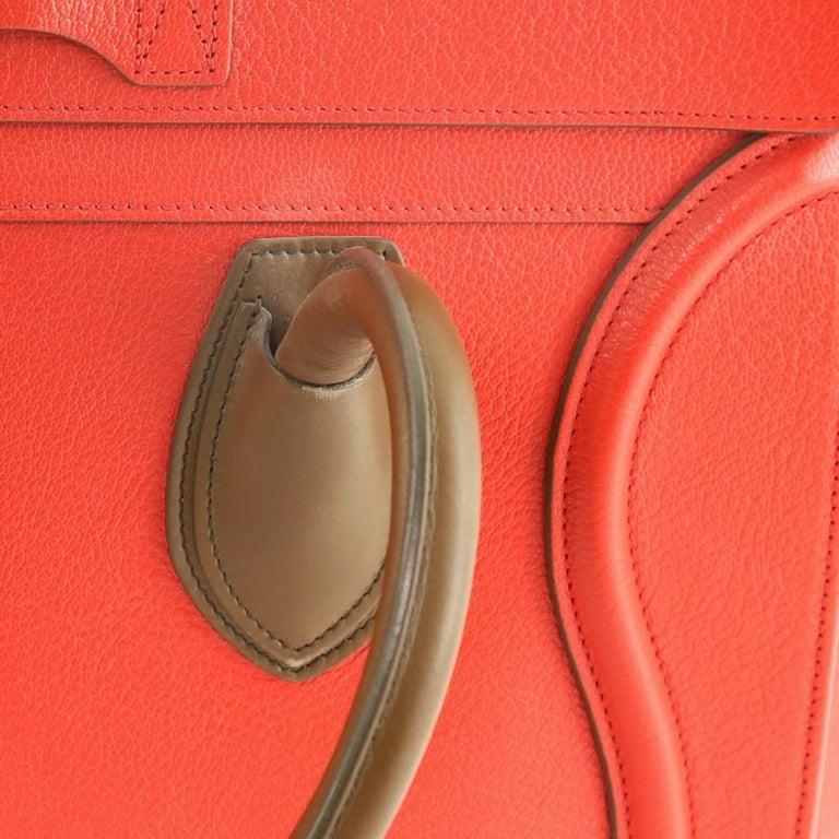 Celine Bicolor Luggage Bag Leather Mini For Sale 2