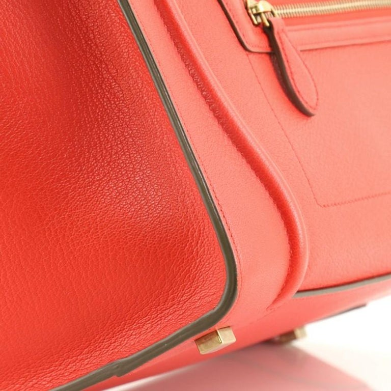Celine Bicolor Luggage Bag Leather Mini For Sale 3