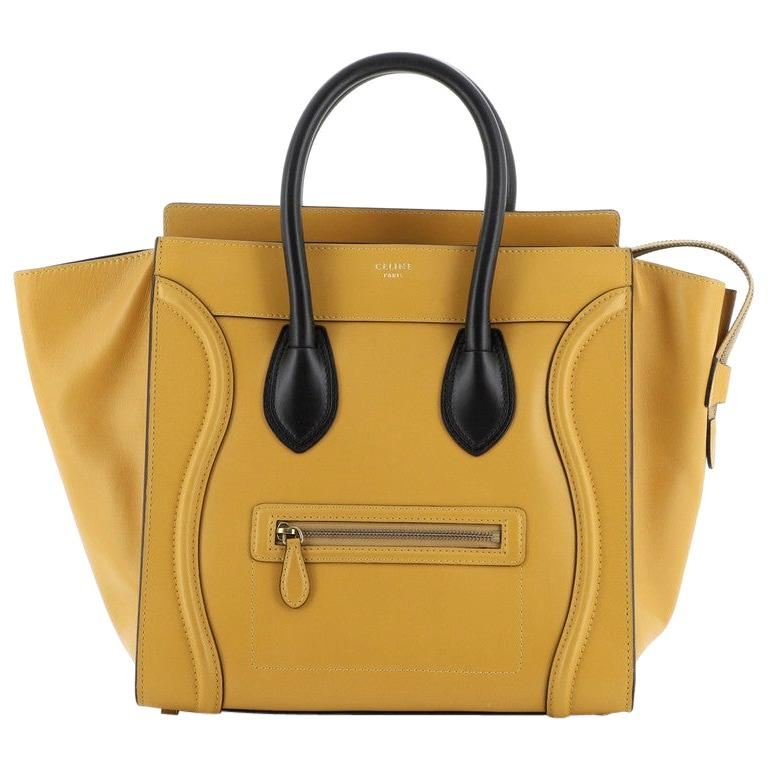 Celine Bicolor Luggage Bag Leather Mini For Sale