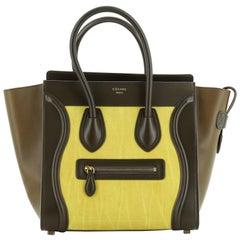 Celine Bicolor Luggage Bag Nubuck Micro