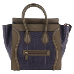 Celine Bicolor Luggage Bag Python and Leather Mini