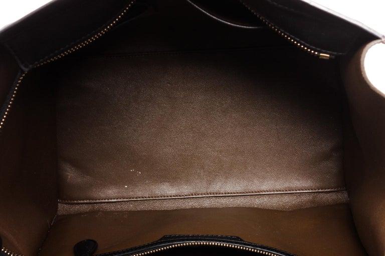 Celine Bicolor Nubuck Phantom Tote Bag  In Fair Condition For Sale In Irvine, CA