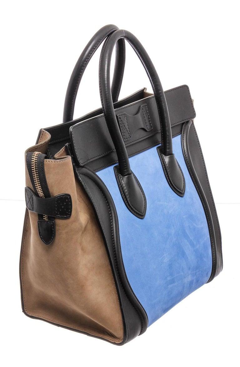 Women's or Men's Celine Bicolor Nubuck Phantom Tote Bag  For Sale