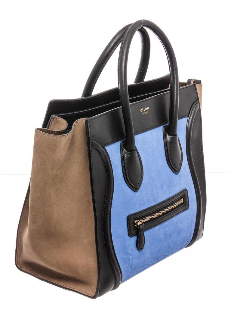 Celine Bicolor Nubuck Phantom Tote Bag  For Sale 2