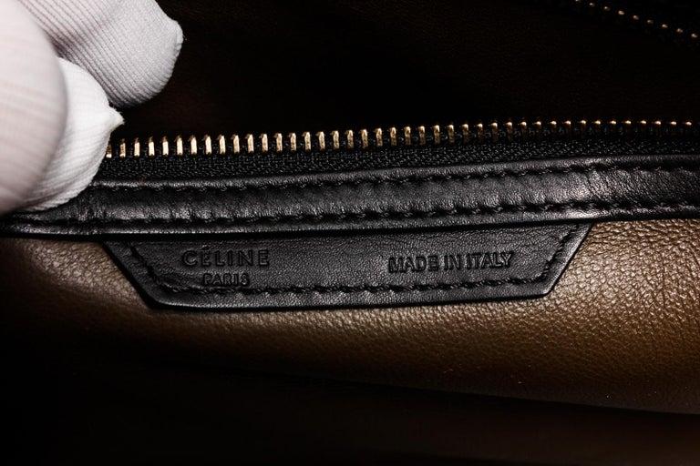 Celine Bicolor Nubuck Phantom Tote Bag  For Sale 3