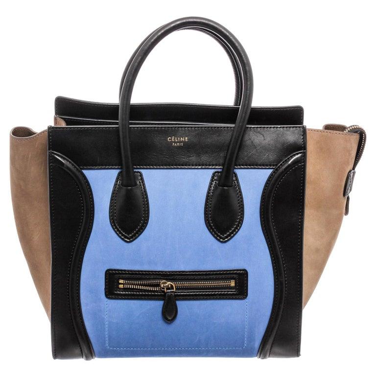 Celine Bicolor Nubuck Phantom Tote Bag  For Sale