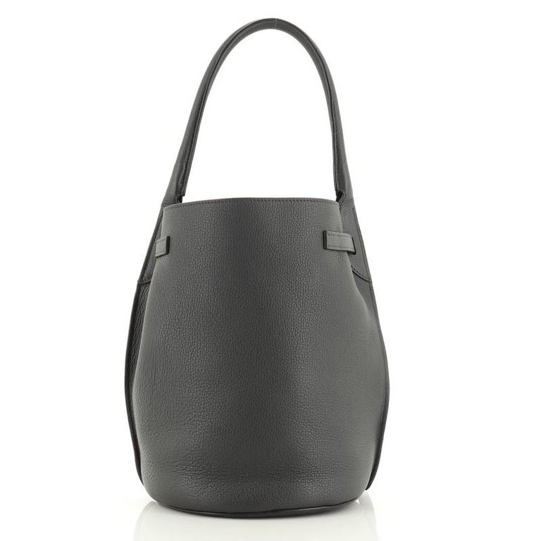 Black Celine Big Bag Bucket Leather For Sale