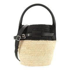 Celine Big Bag Bucket Woven Raffia Nano