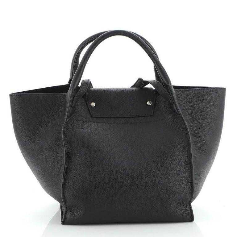 Black Celine Big Bag Grained Calfskin Small For Sale