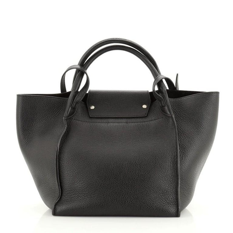 Celine: Big Bag Grained Calfskin Small In Fair Condition For Sale In New York, NY