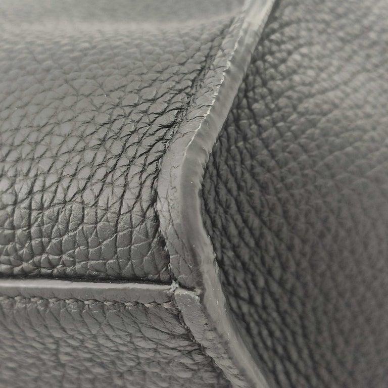 CÉLINE Big bag Shoulder bag in Black Leather For Sale 6