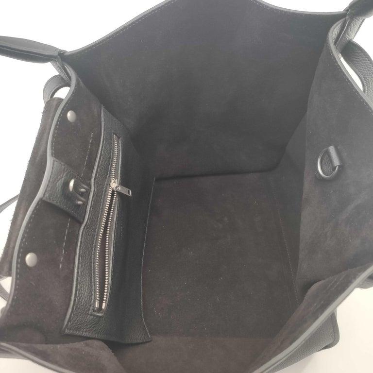CÉLINE Big bag Shoulder bag in Black Leather For Sale 1