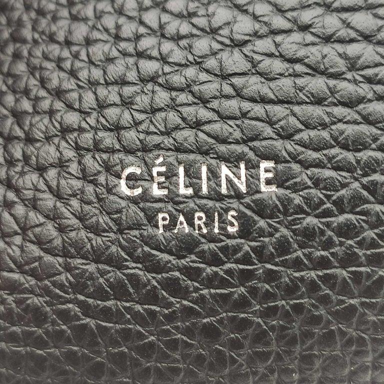 CÉLINE Big bag Shoulder bag in Black Leather For Sale 2