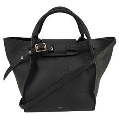 CÉLINE Big bag Shoulder bag in Black Leather