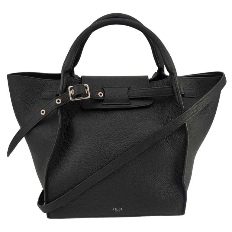 CÉLINE Big bag Shoulder bag in Black Leather For Sale
