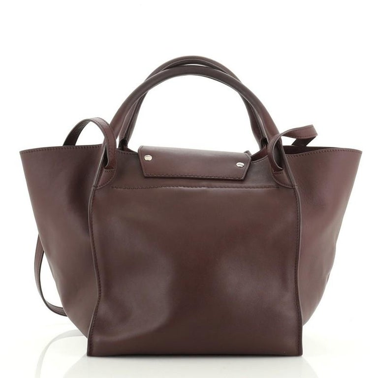 Celine Big Bag Smooth Calfskin Small In Fair Condition For Sale In New York, NY