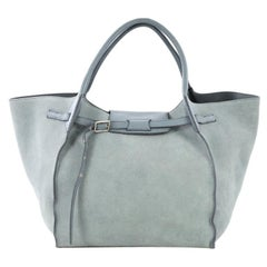 7e1cd000f Celine Micro Luggage Light Taupe Calfskin Tote Handbag with Blue ...