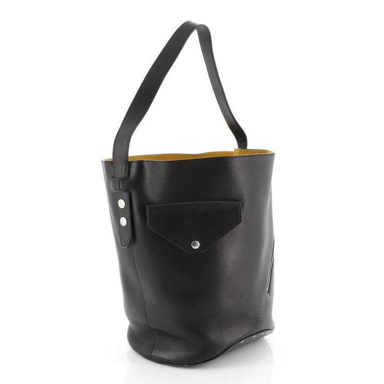 Celine Biker Bucket Shoulder Bag Calfskin Small In Good Condition For Sale In New York, NY