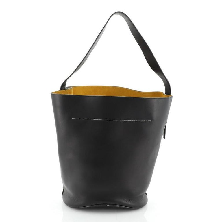 Women's or Men's Celine Biker Bucket Shoulder Bag Calfskin Small For Sale