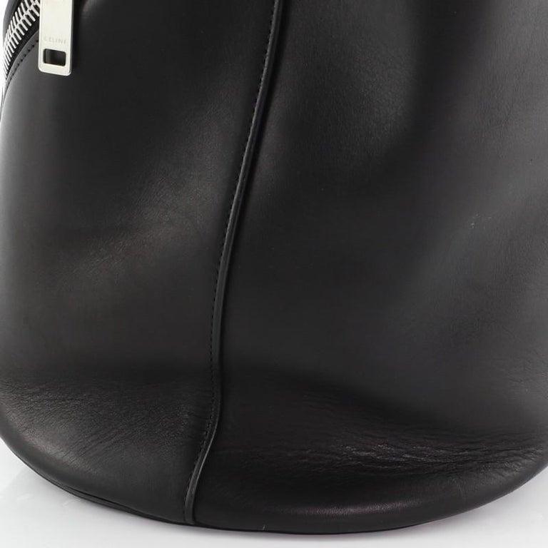 Celine Biker Bucket Shoulder Bag Calfskin Small For Sale 4