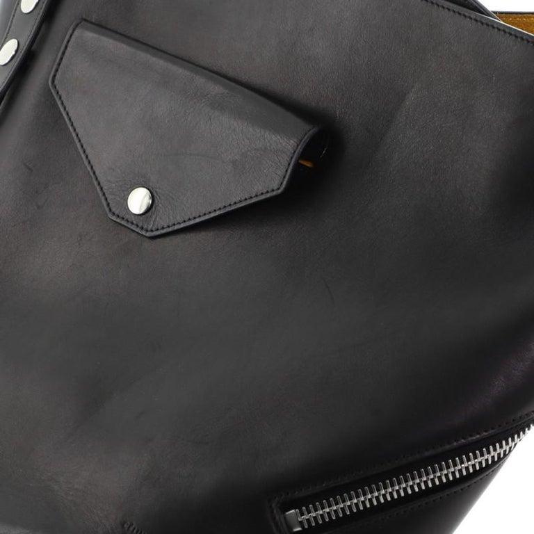 Celine Biker Bucket Shoulder Bag Calfskin Small For Sale 5
