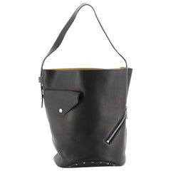 Celine Biker Bucket Shoulder Bag Calfskin Small