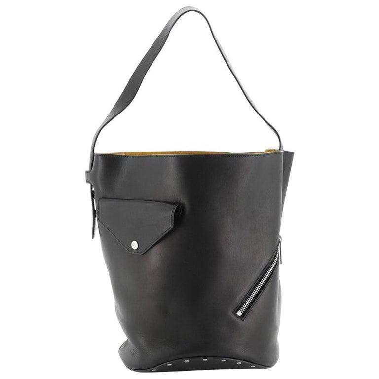 Celine Biker Bucket Shoulder Bag Calfskin Small For Sale