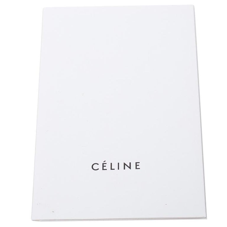 Celine Black Calfskin Leather Blade Flap Bag For Sale 5