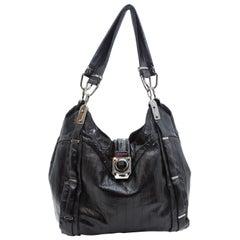 Celine Black Eelskin Shoulder Bag