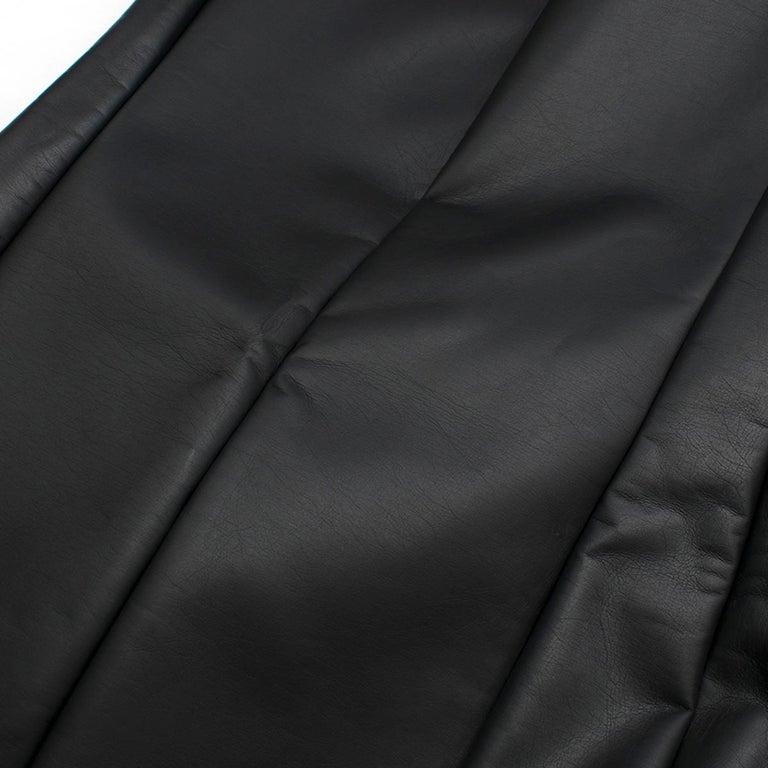 Celine Black Faux Leather Sleeveless Exposed Zip Front Dress 34/ 6 UK 5