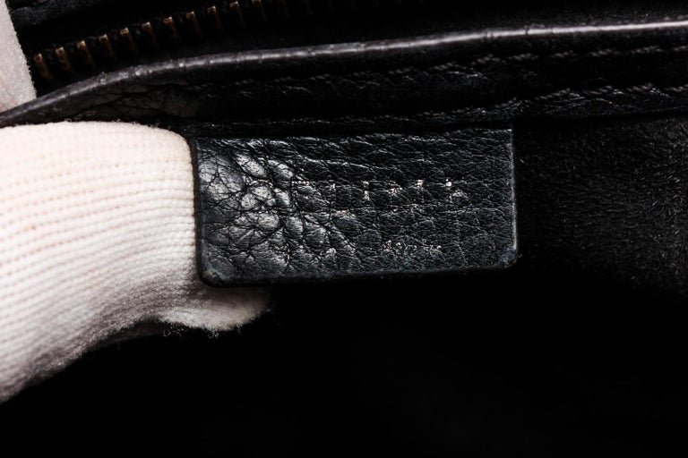 Celine Black Grained Calfskin Leather Nano Luggage Tote Bag  For Sale 4
