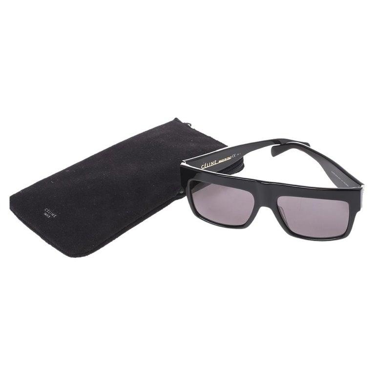 Women's Celine Black/Grey CL 41756 Square Polarized Sunglasses For Sale