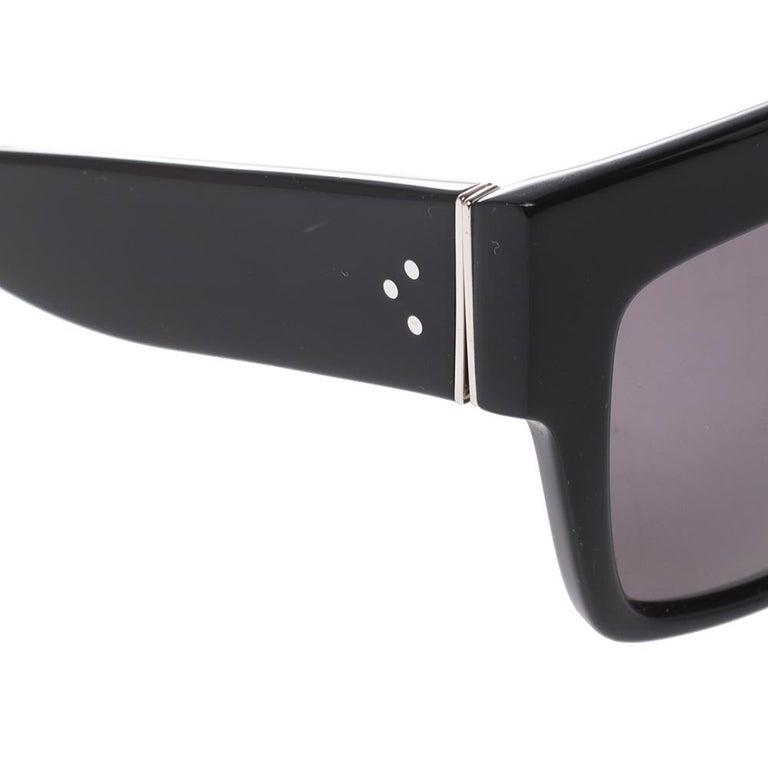Celine Black/Grey CL 41756 Square Polarized Sunglasses For Sale 2