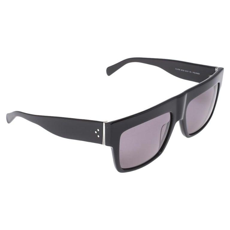 Celine Black/Grey CL 41756 Square Polarized Sunglasses For Sale 3