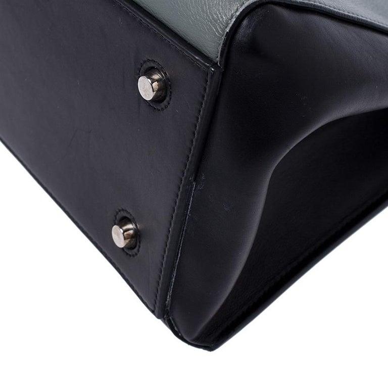 Celine Black/Grey Leather Medium Edge Bag For Sale 2