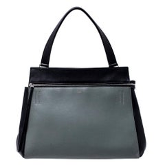 Celine Black/Grey Leather Medium Edge Bag