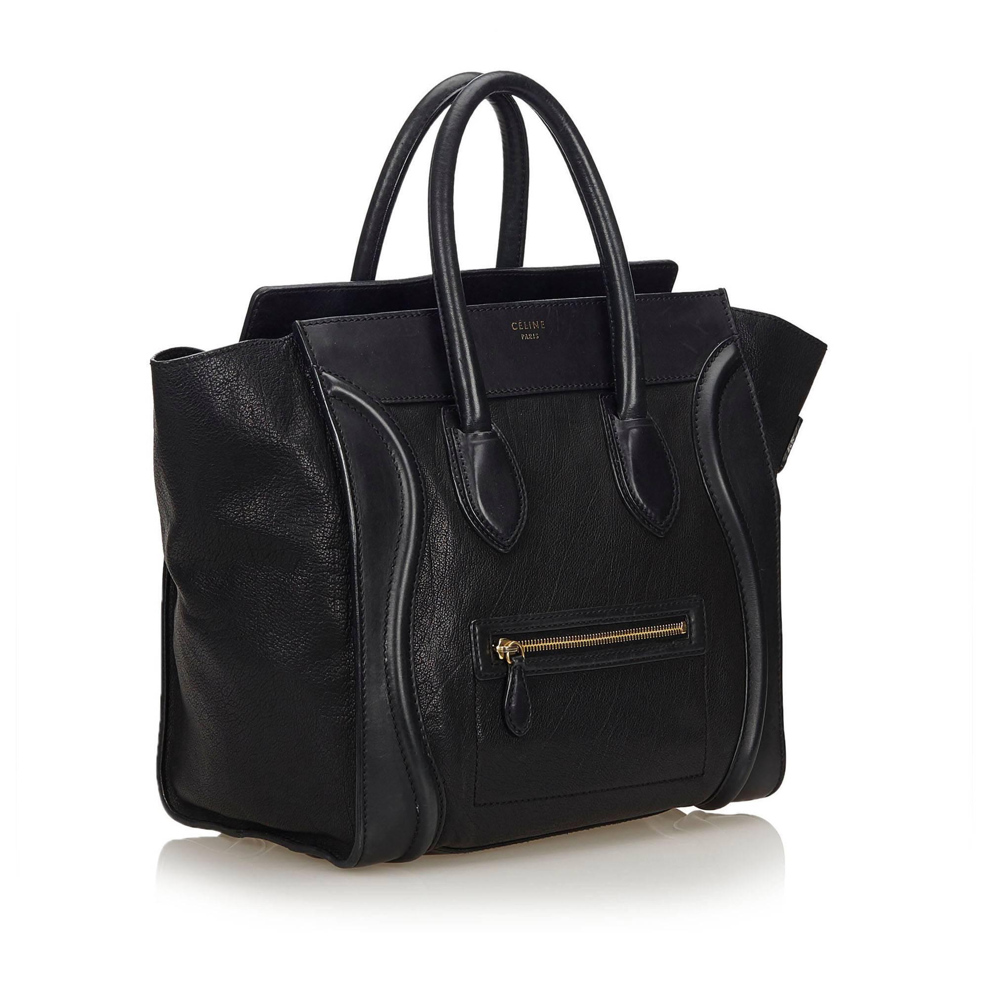70901fe8701f6 Celine Black Large Luggage Phantom For Sale at 1stdibs
