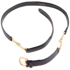 Celine Black Leather Belt