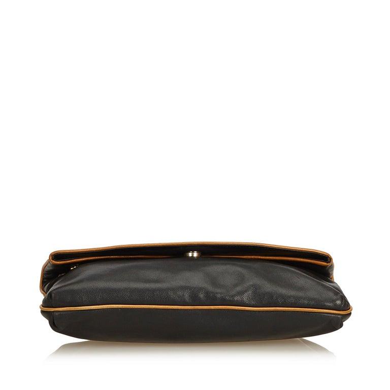 Women's Celine Black Leather Clutch Bag For Sale
