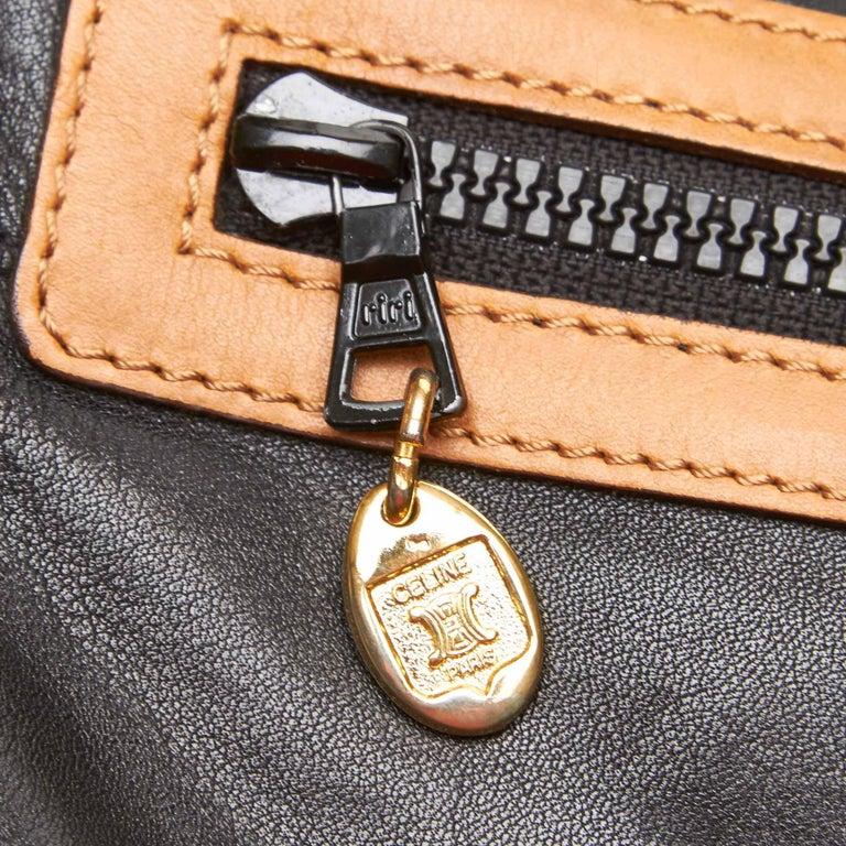 Celine Black Leather Clutch Bag For Sale 4