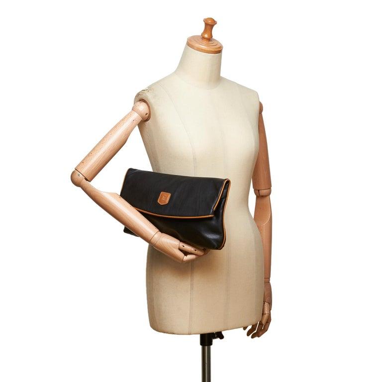 Celine Black Leather Clutch Bag For Sale 5