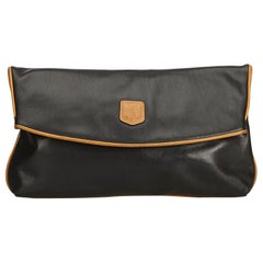Celine Black Leather Clutch Bag