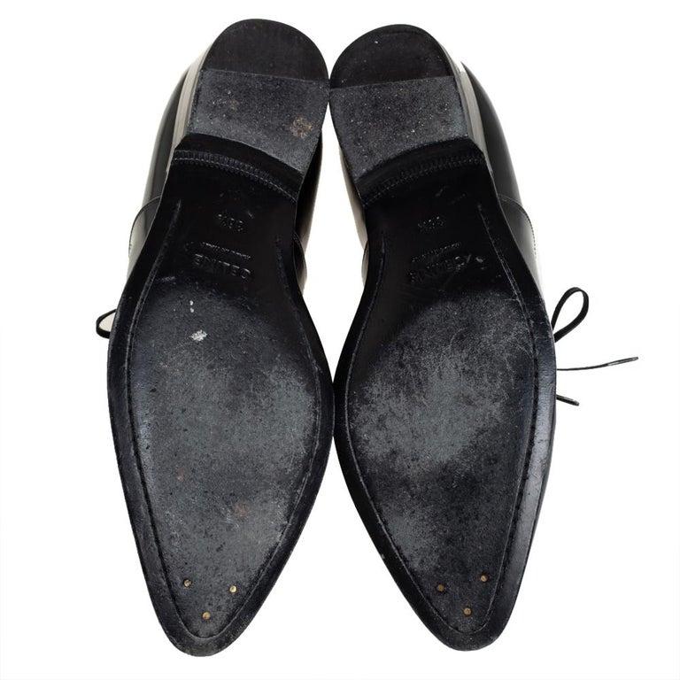 Celine Black Leather Jacno Oxfords Size 36.5 For Sale 4