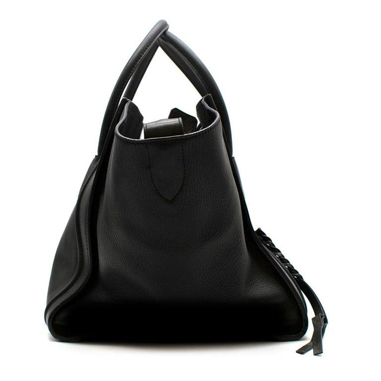 Celine Black Leather Medium Phantom Luggage Tote For Sale 3