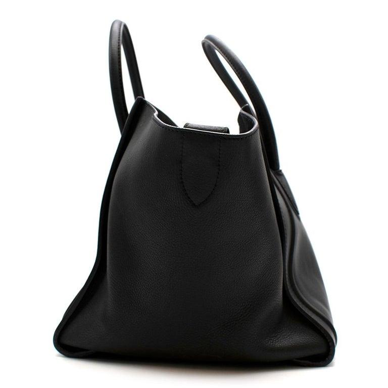 Celine Black Leather Medium Phantom Luggage Tote For Sale 4