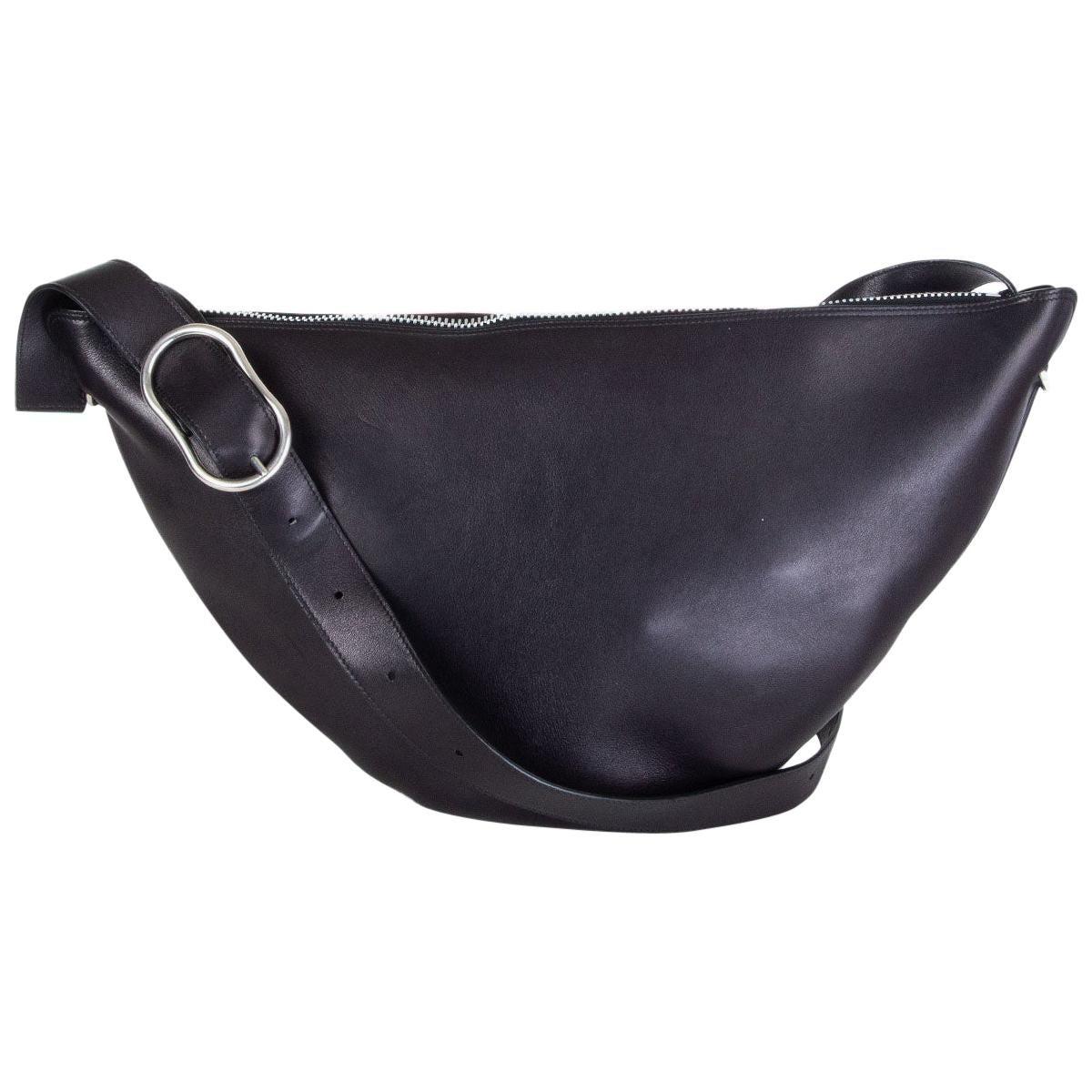 CELINE black leather MEDIUM SWING Shoulder Bag