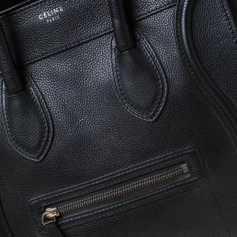 Celine Black Leather Mini Luggage Tote 8